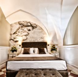 panoramica di camera matrimoniale hotel casa isabella